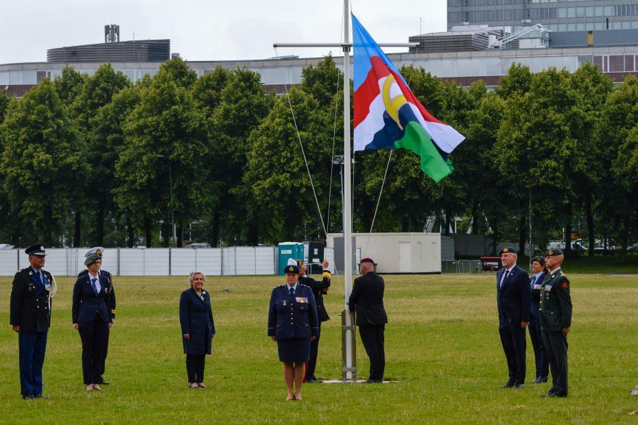 Vlaggenceremonie met Ank Bijleveld-Schouten